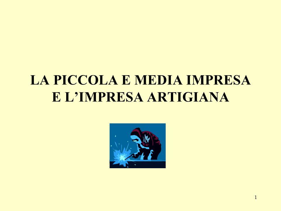 1 LA PICCOLA E MEDIA IMPRESA E LIMPRESA ARTIGIANA