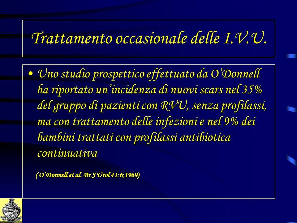Trattamento occasionale delle I.V.U. Uno studio prospettico effettuato da ODonnell ha riportato unincidenza di nuovi scars nel 35% del gruppo di pazie