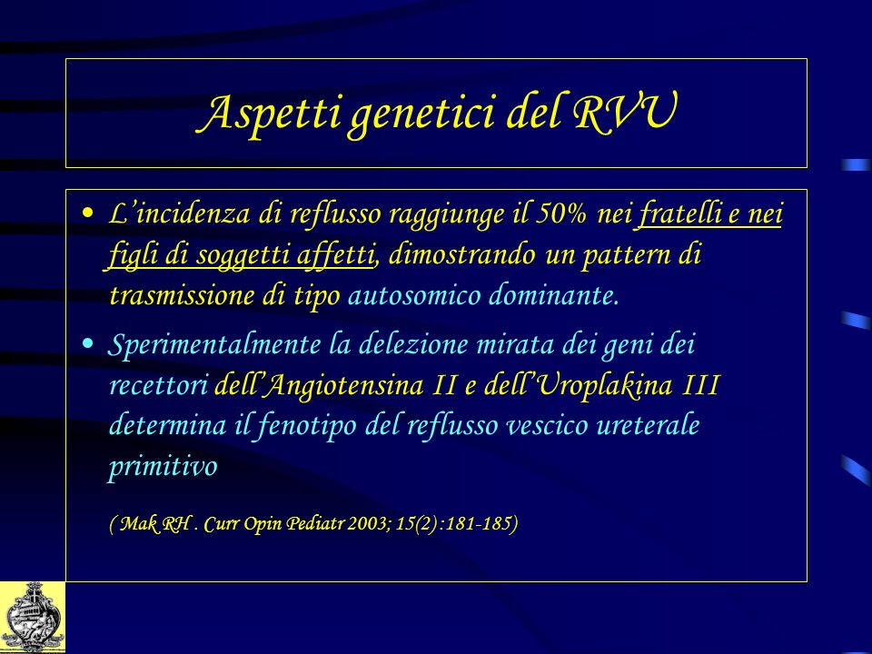Influenza delle terapie complementari A significant decrease in the dysfunctional voiding symptoms score appears to confirm compliance with behavioural modification and predicts ultimate reflux resolution A significant decrease in the dysfunctional voiding symptoms score appears to confirm compliance with behavioural modification and predicts ultimate reflux resolution ( Upadhyay J et al.