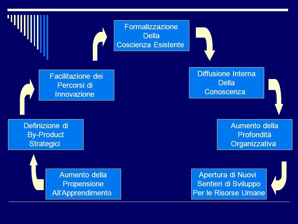 Formalizzazione Della Coscienza Esistente Facilitazione dei Percorsi di Innovazione Definizione di By-Product Strategici Aumento della Propensione All
