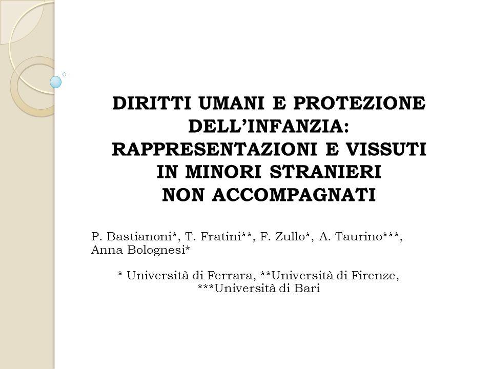 P. Bastianoni*, T. Fratini**, F. Zullo*, A. Taurino***, Anna Bolognesi* * Università di Ferrara, **Università di Firenze, ***Università di Bari DIRITT