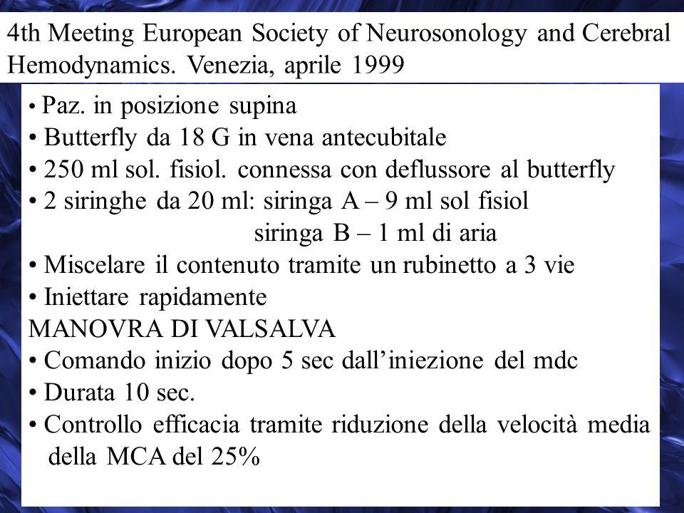 4th Meeting European Society of Neurosonology and Cerebral Hemodynamics.
