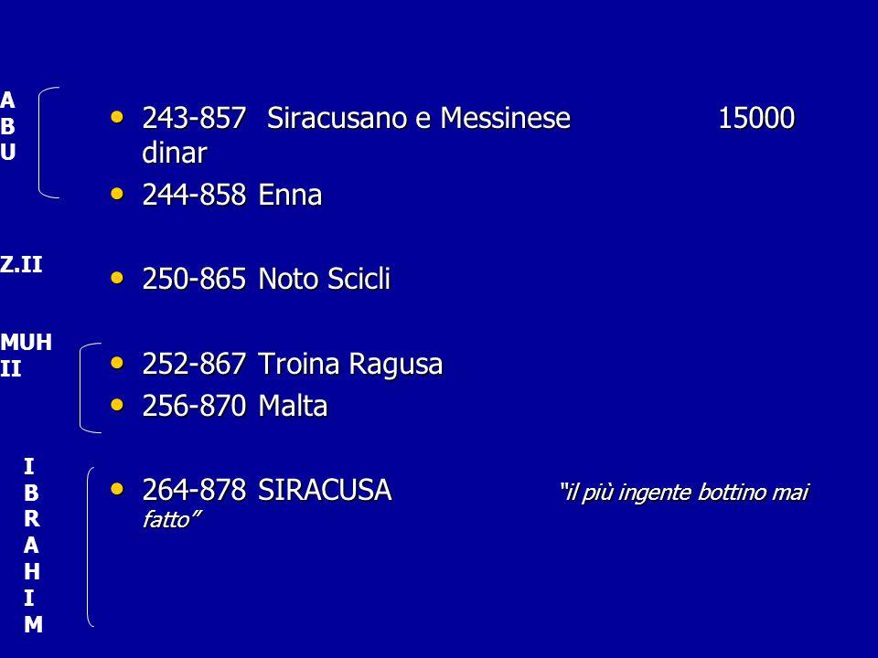 243-857 Siracusano e Messinese 15000 dinar 243-857 Siracusano e Messinese 15000 dinar 244-858 Enna 244-858 Enna 250-865 Noto Scicli 250-865 Noto Scicl