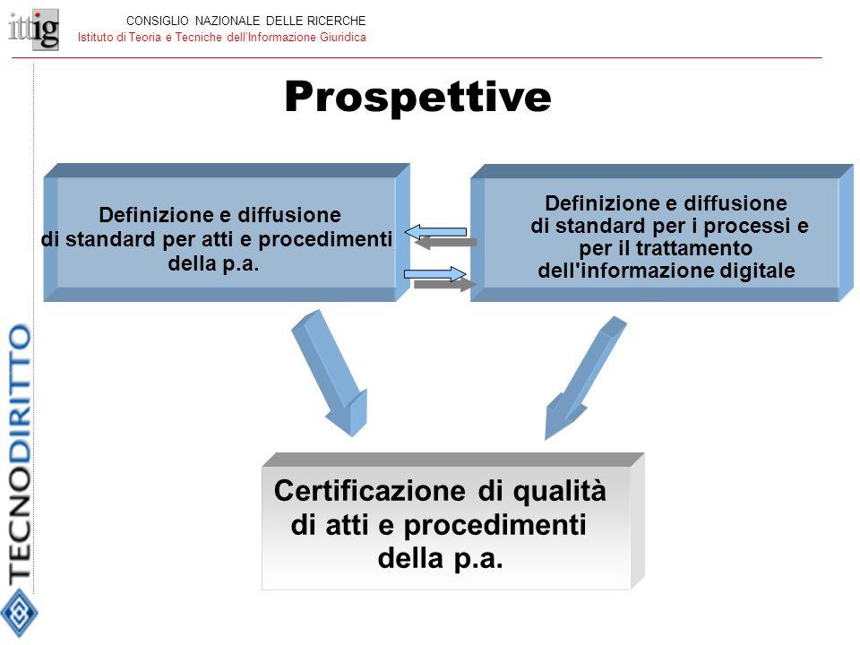 Definizione e diffusione di standard per atti e procedimenti della p.a.