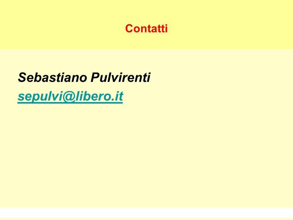 Sebastiano Pulvirenti sepulvi@libero.it 28 Contatti Sebastiano Pulvirenti sepulvi@libero.it