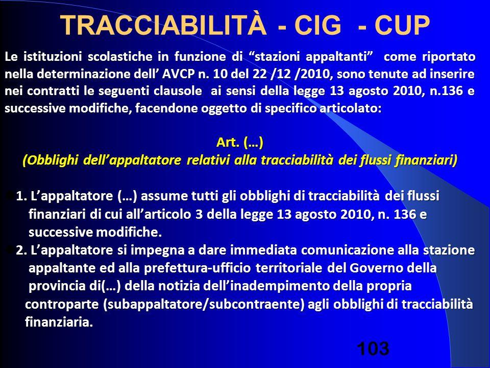 Le istituzioni scolastiche in funzione di stazioni appaltanti come riportato nella determinazione dell AVCP n. 10 del 22 /12 /2010, sono tenute ad ins