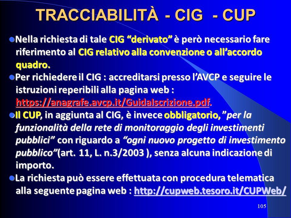 Nella richiesta di tale CIG derivato è però necessario fare Nella richiesta di tale CIG derivato è però necessario fare riferimento al CIG relativo al
