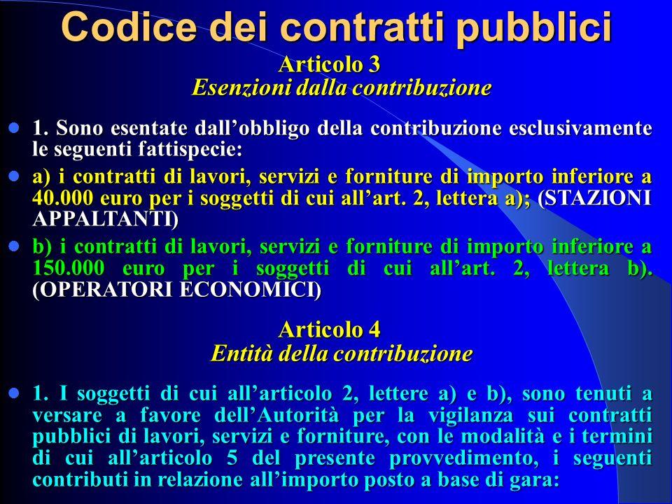 Articolo 3 Esenzioni dalla contribuzione 1. Sono esentate dallobbligo della contribuzione esclusivamente le seguenti fattispecie: 1. Sono esentate dal