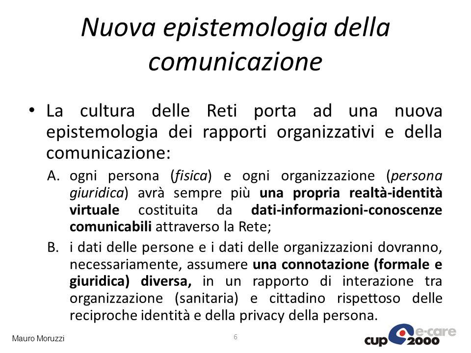 Mauro Moruzzi Nuova epistemologia della comunicazione La cultura delle Reti porta ad una nuova epistemologia dei rapporti organizzativi e della comuni