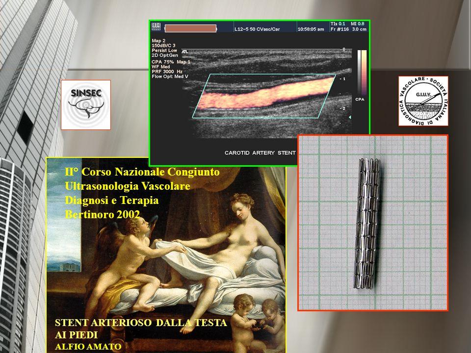 II° Corso Nazionale Congiunto Ultrasonologia Vascolare Diagnosi e Terapia Bertinoro 2002 STENT ARTERIOSO DALLA TESTA AI PIEDI ALFIO AMATO