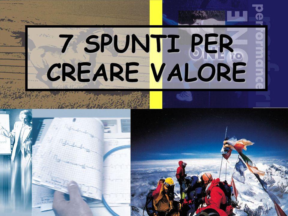 7 SPUNTI PER CREARE VALORE