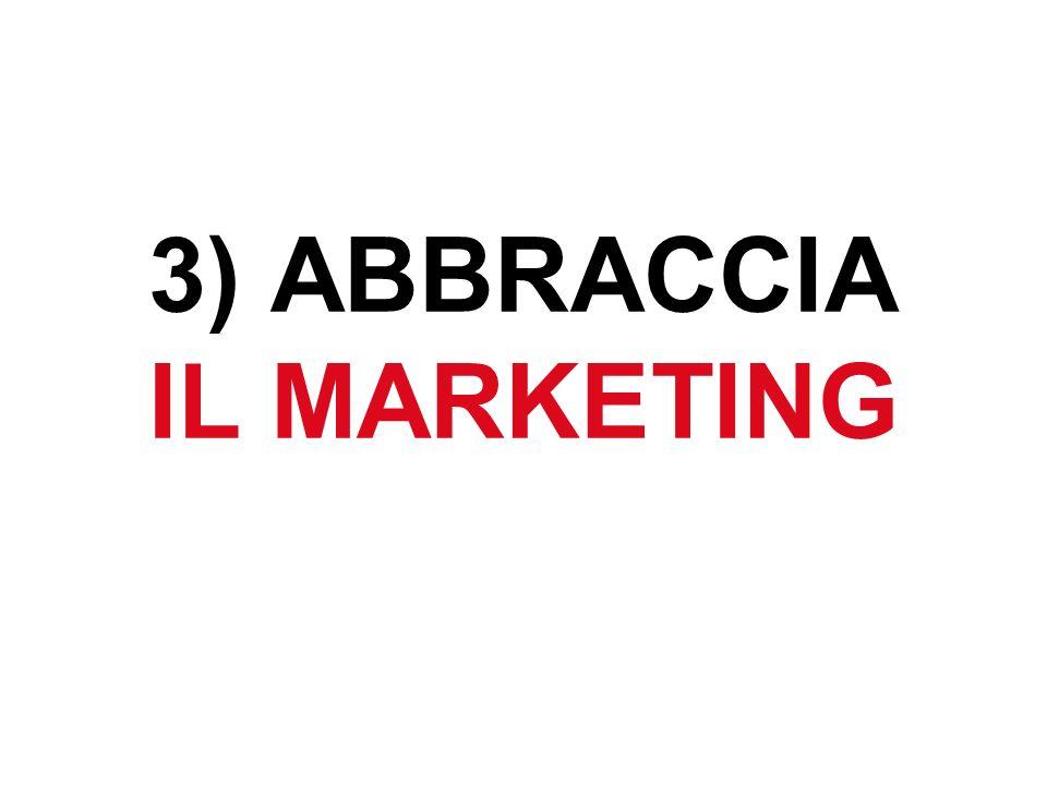 3) ABBRACCIA IL MARKETING