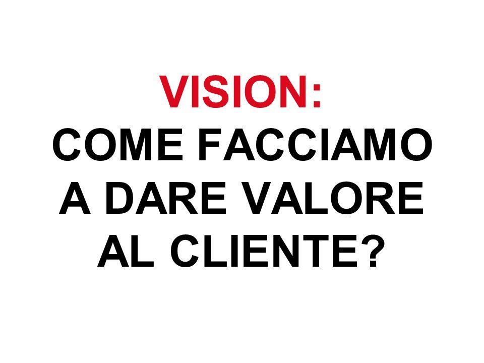 VISION: COME FACCIAMO A DARE VALORE AL CLIENTE?