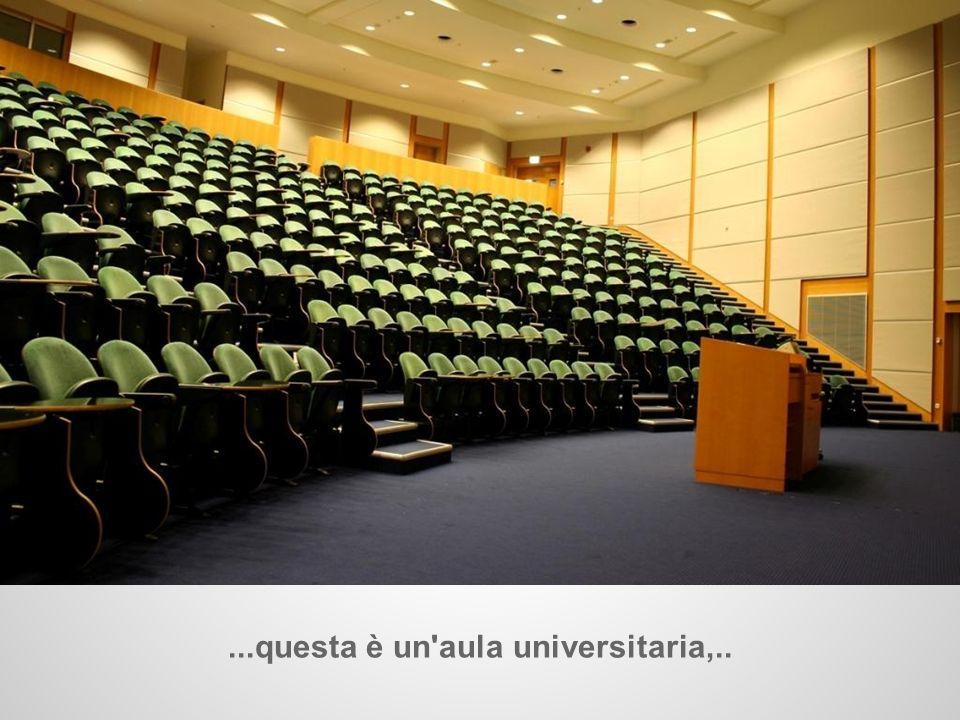 ...questa è un'aula universitaria,..