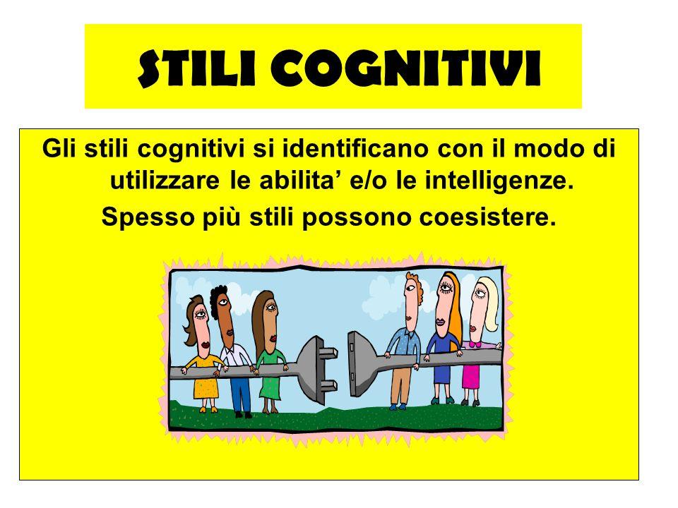 MARIO FRACCARO24 STILI COGNITIVI Gli stili cognitivi si identificano con il modo di utilizzare le abilita e/o le intelligenze. Spesso più stili posson