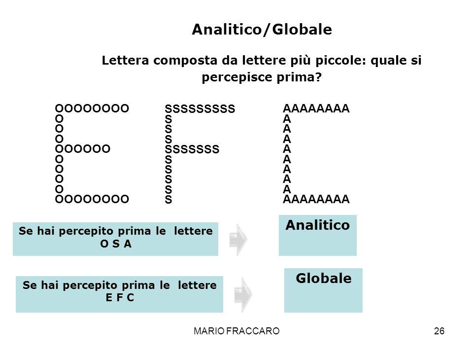 MARIO FRACCARO26 OOOOOOOO O OOOOOO O OOOOOOOO SSSSSSSSS S SSSSSSS S AAAAAAAA A AAAAAAAA Analitico/Globale Lettera composta da lettere più piccole: qua