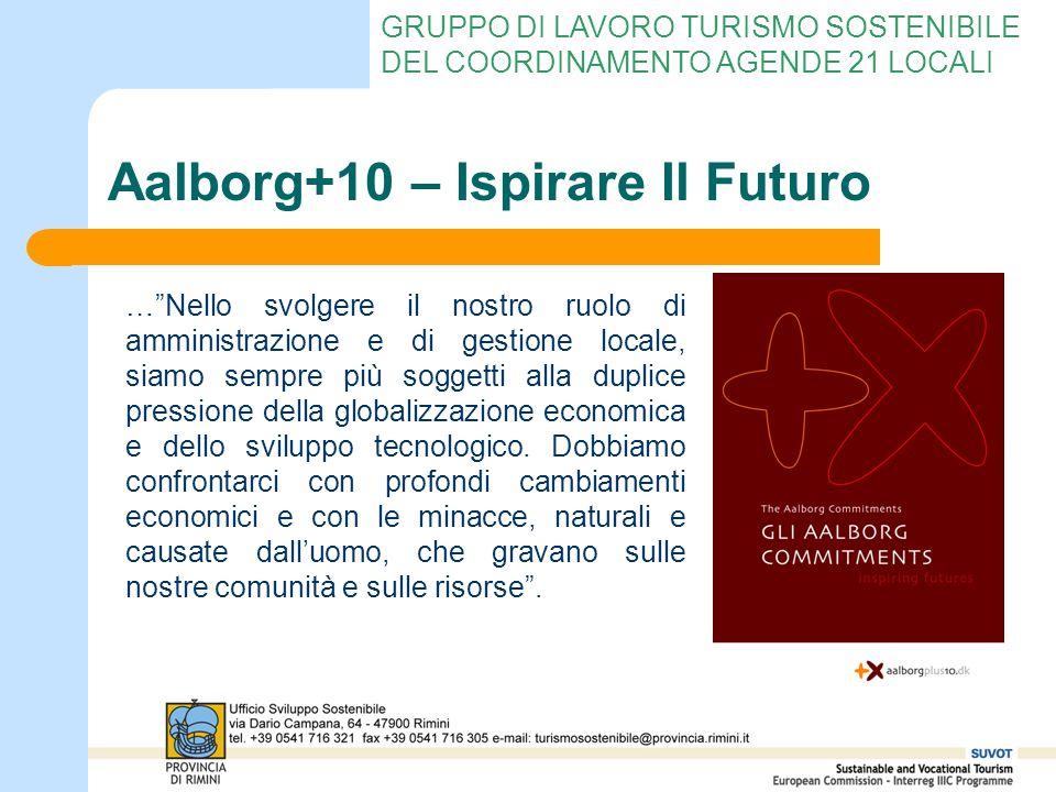 GRUPPO DI LAVORO TURISMO SOSTENIBILE DEL COORDINAMENTO AGENDE 21 LOCALI Aalborg+10 – Ispirare Il Futuro …Nello svolgere il nostro ruolo di amministraz
