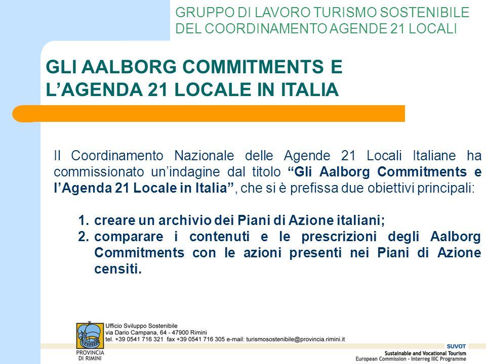 GRUPPO DI LAVORO TURISMO SOSTENIBILE DEL COORDINAMENTO AGENDE 21 LOCALI Il Coordinamento Nazionale delle Agende 21 Locali Italiane ha commissionato un