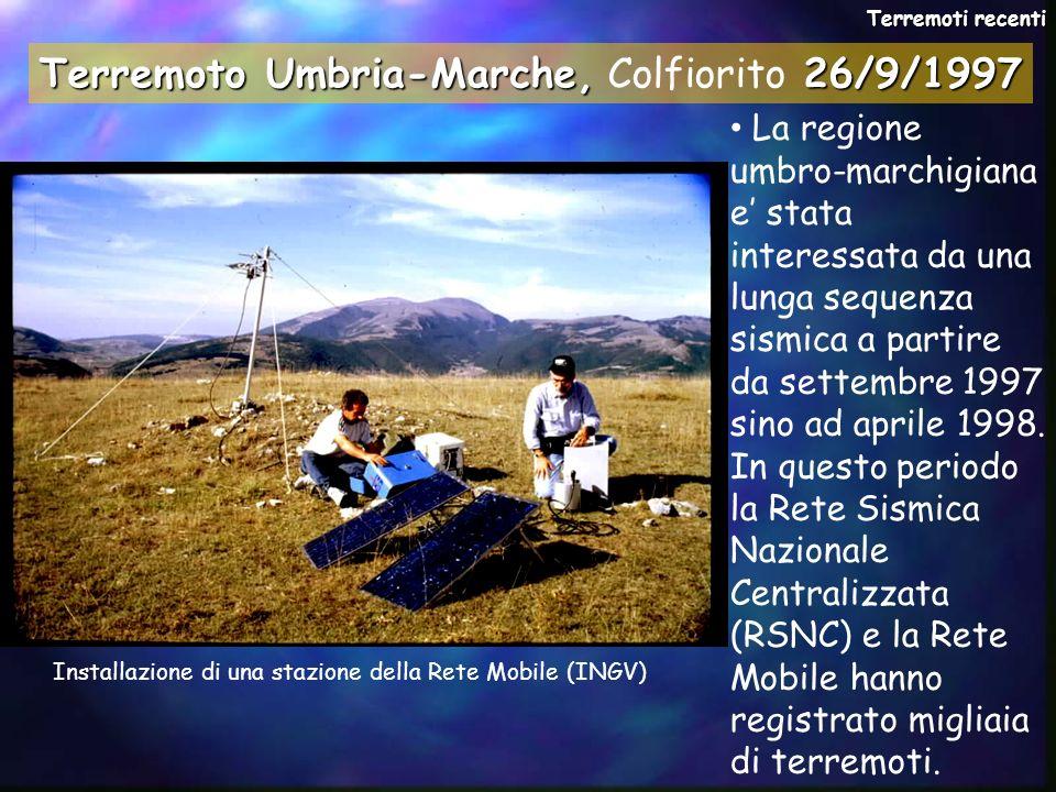 La regione umbro-marchigiana e stata interessata da una lunga sequenza sismica a partire da settembre 1997 sino ad aprile 1998. In questo periodo la R