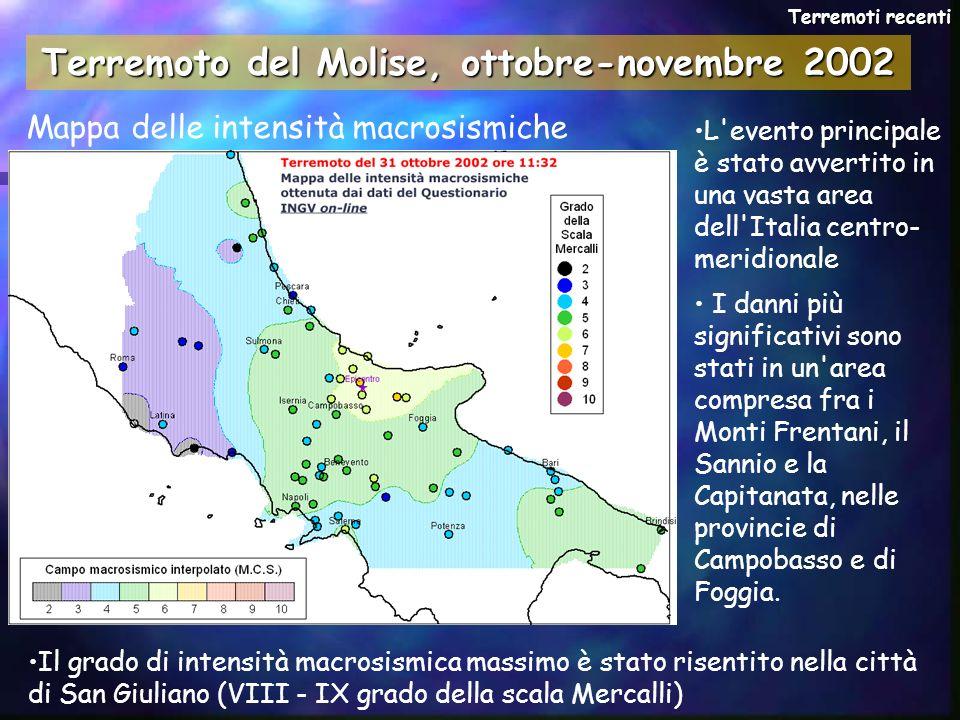 L'evento principale è stato avvertito in una vasta area dell'Italia centro- meridionale I danni più significativi sono stati in un'area compresa fra i