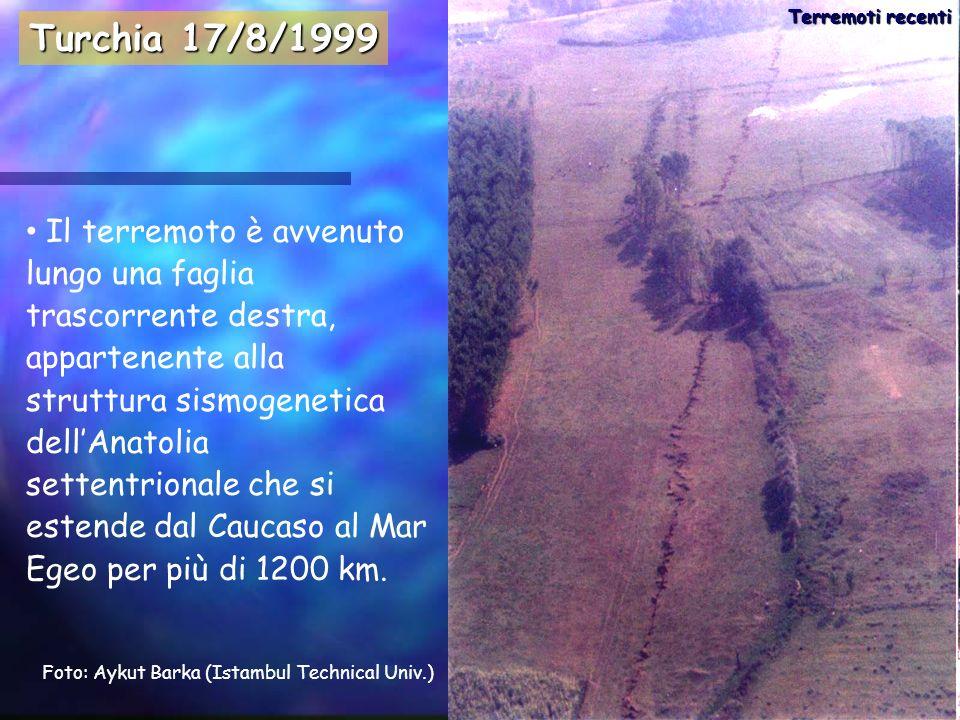Il terremoto è avvenuto lungo una faglia trascorrente destra, appartenente alla struttura sismogenetica dellAnatolia settentrionale che si estende dal