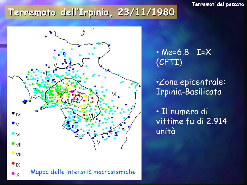 Gli effetti del terremoto dellIrpinia Molti paesi della Campania, della Basilicata e della Puglia, subirono danni rilevanti.