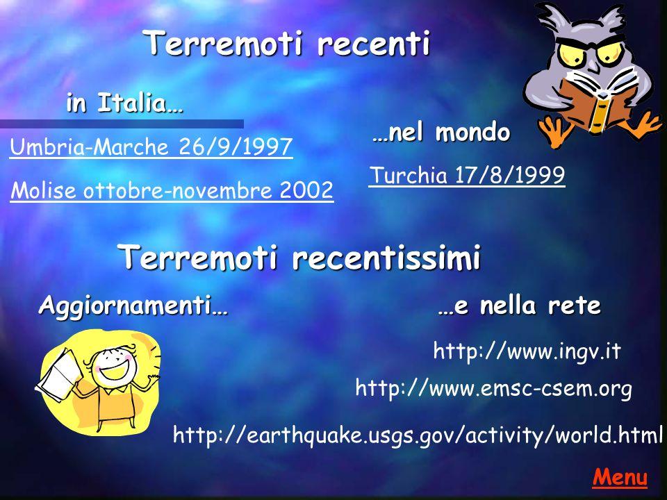 Terremoto Umbria-Marche,Colfiorito 26/9/1997 Terremoto Umbria-Marche, Colfiorito 26/9/1997 Ml=5.5 (ING) I=VIII-IX, ore 2:33 Zona epicentrale: confine tra Umbria e Marche (Colfiorito) Ci sono state 12 vittime, oltre a 140 feriti e 50000 senza tetto.