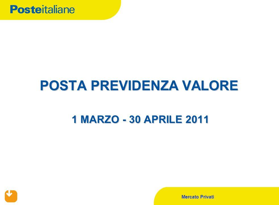 Mercato Privati POSTA PREVIDENZA VALORE 1 MARZO - 30 APRILE 2011