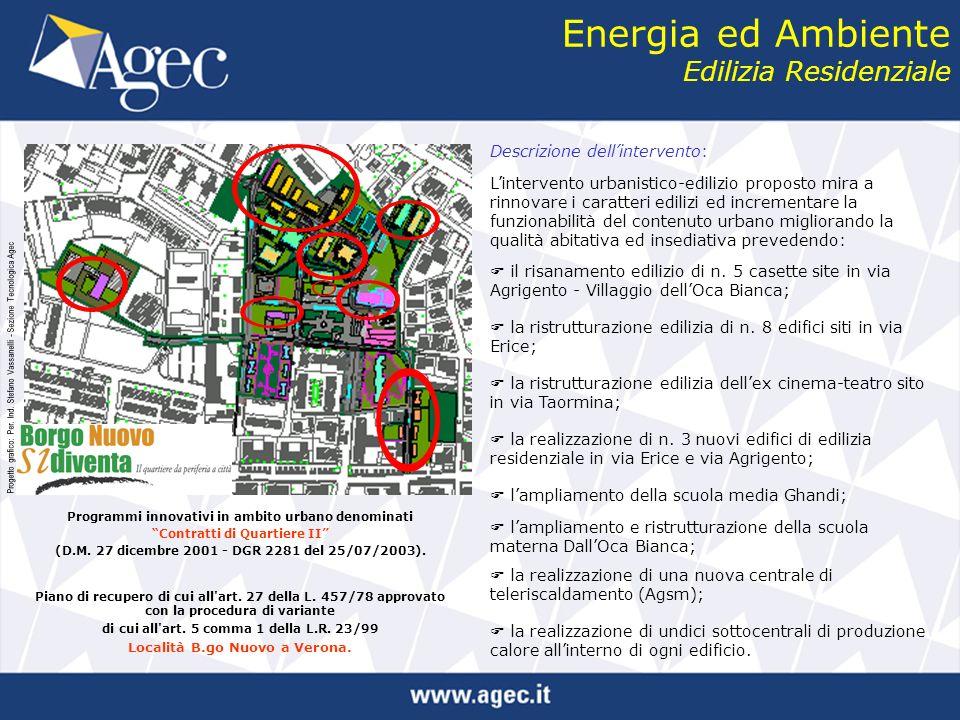 Energia ed Ambiente Edilizia Residenziale Programmi innovativi in ambito urbano denominati Contratti di Quartiere II (D.M.