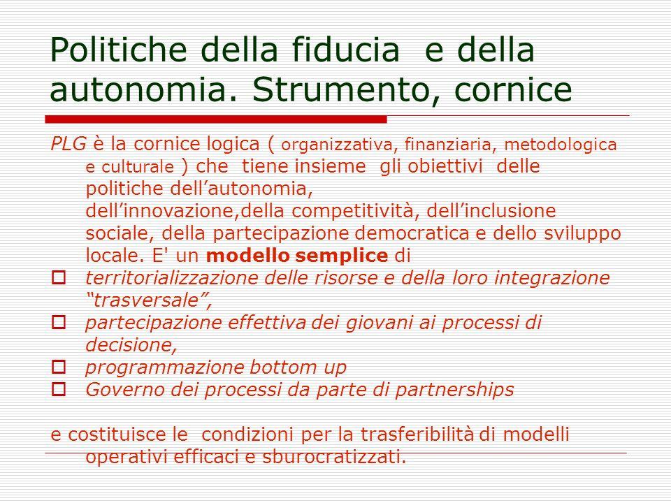 Politiche della fiducia e della autonomia.