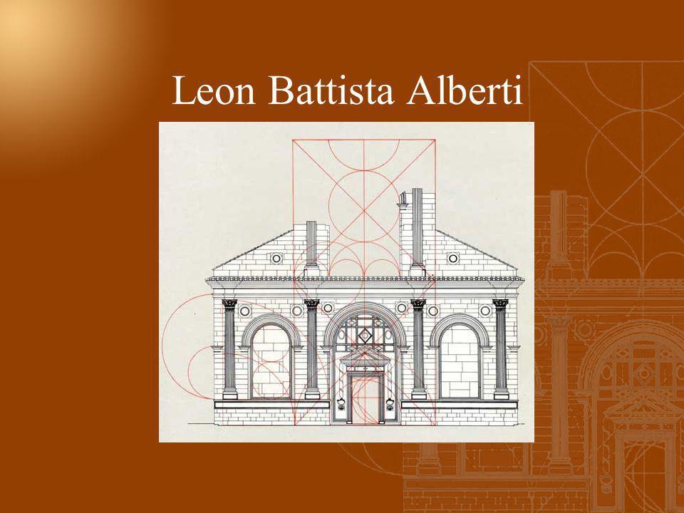 Leon Battista Alberti <<… Sentivo come cosa grave che tanto numerose ed insigni fatiche degli autori di trattati di architettura fossero andate perdut