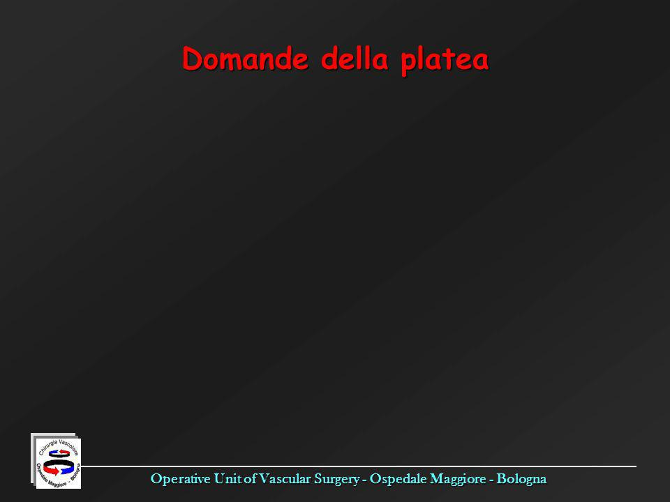Operative Unit of Vascular Surgery - Ospedale Maggiore - Bologna Domande della platea