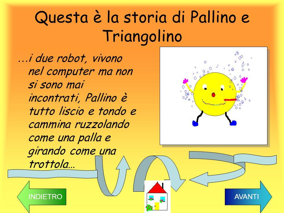 Questa è la storia di Pallino e Triangolino … i due robot, vivono nel computer ma non si sono mai incontrati, Pallino è tutto liscio e tondo e cammina
