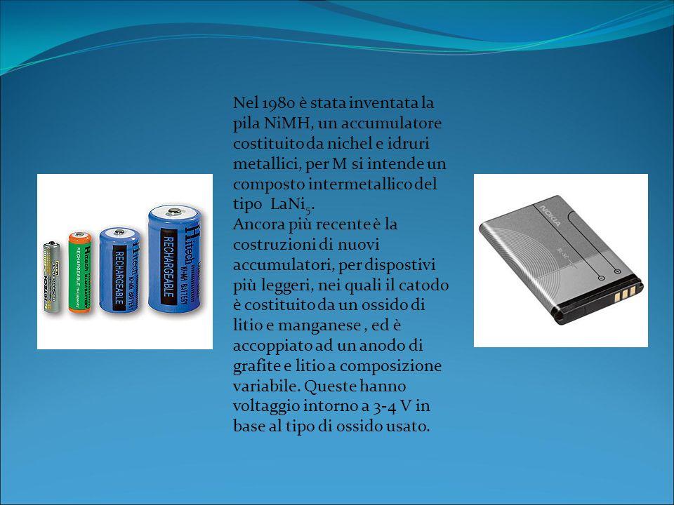 Le pile reversibili chiamate accumulatori sono quelle che possono essere ricaricate attraverso il passaggio di corrente continua; collegando i poli in