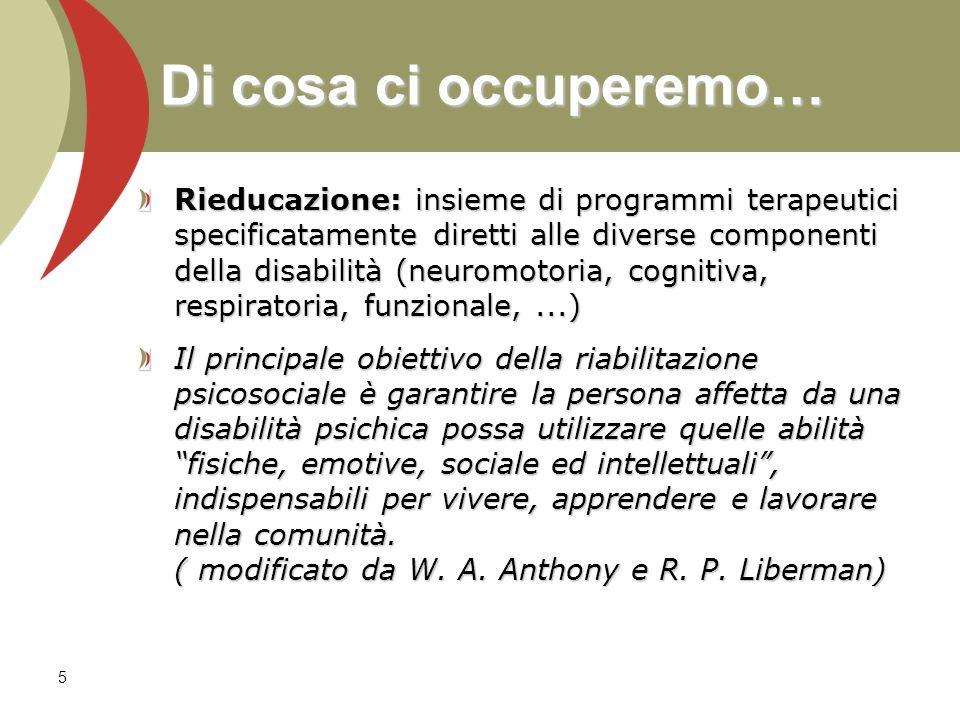 Rieducazione: insieme di programmi terapeutici specificatamente diretti alle diverse componenti della disabilità (neuromotoria, cognitiva, respiratori