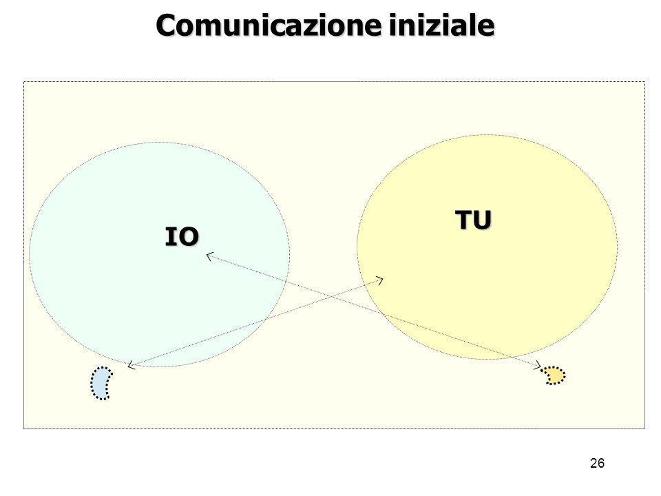 26 Comunicazione iniziale IO TU