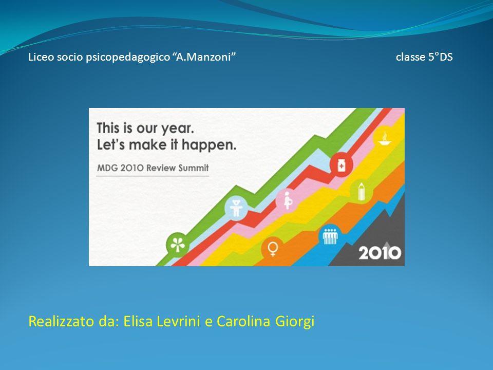 Liceo socio psicopedagogico A.Manzoni classe 5°DS Realizzato da: Elisa Levrini e Carolina Giorgi