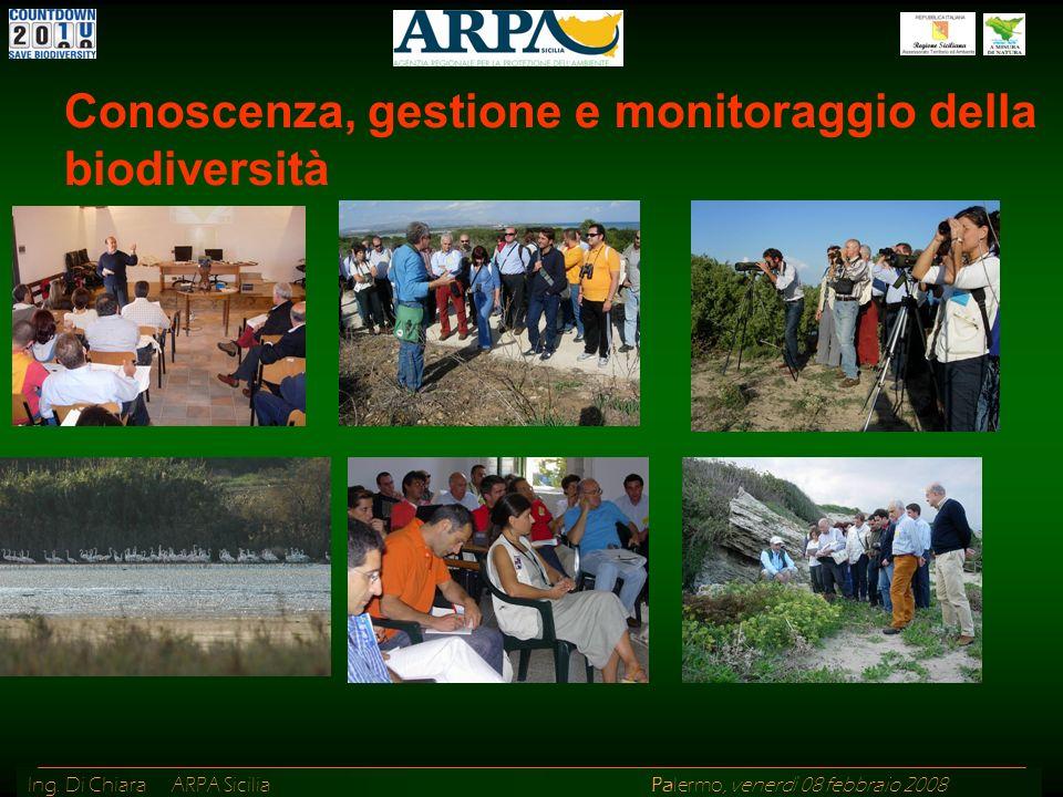 Ing. Di Chiara ARPA Sicilia Palermo, venerdì 08 febbraio 2008 Conoscenza, gestione e monitoraggio della biodiversità