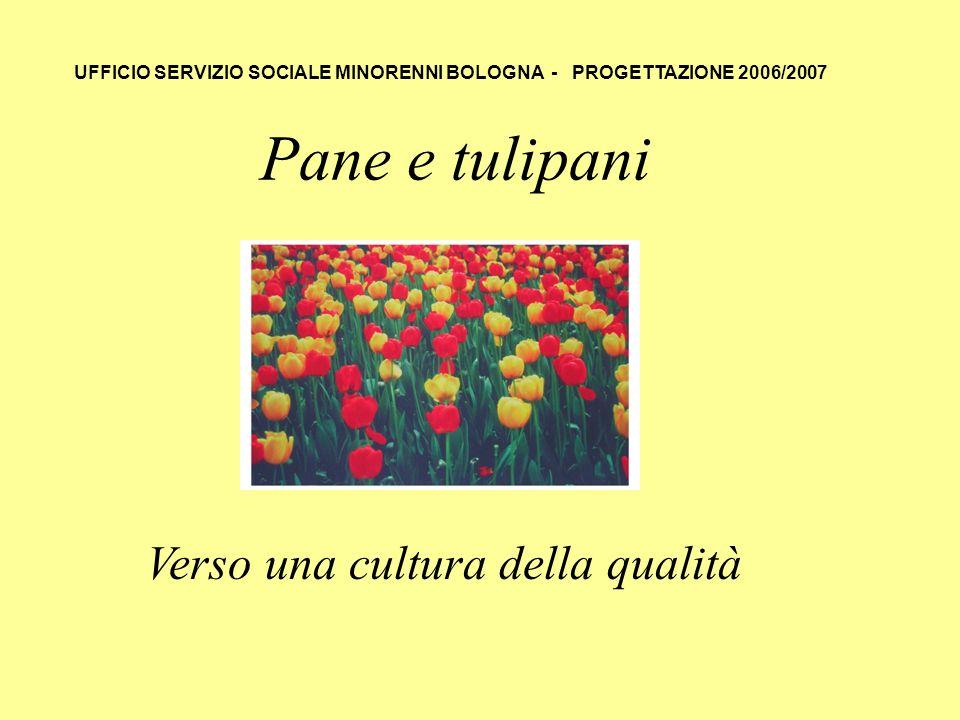 Pane e tulipani Verso una cultura della qualità UFFICIO SERVIZIO SOCIALE MINORENNI BOLOGNA - PROGETTAZIONE 2006/2007