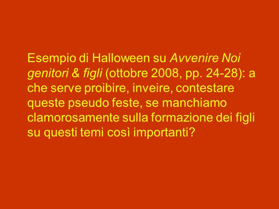 Esempio di Halloween su Avvenire Noi genitori & figli (ottobre 2008, pp.