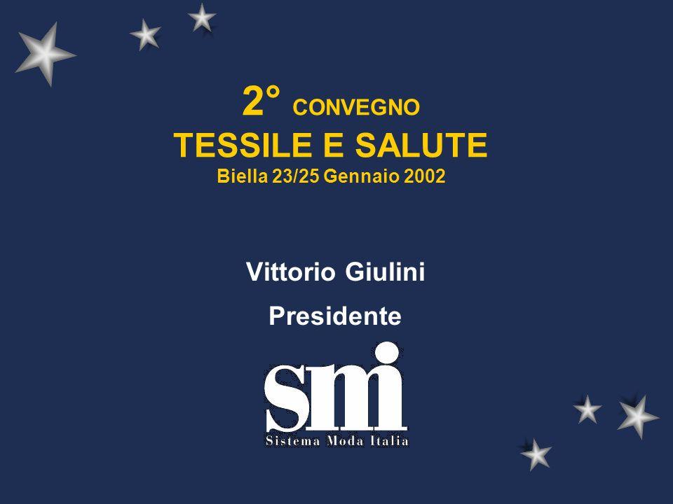 2° CONVEGNO TESSILE E SALUTE Biella 23/25 Gennaio 2002 Vittorio Giulini Presidente