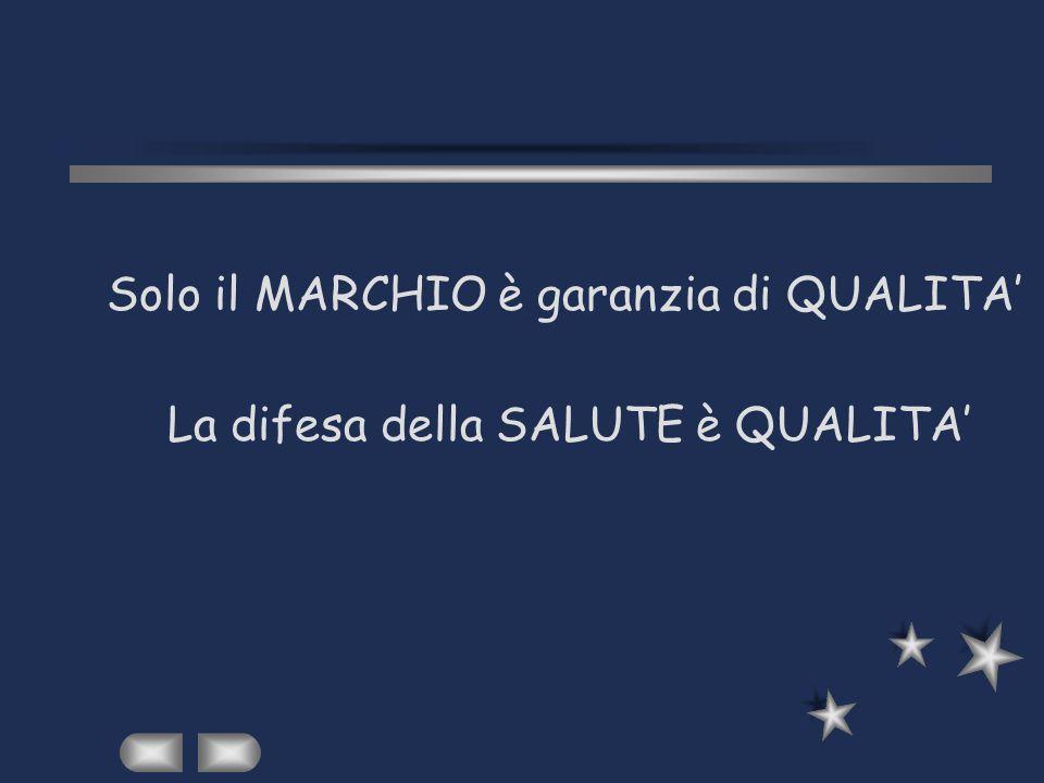 Solo il MARCHIO è garanzia di QUALITA La difesa della SALUTE è QUALITA