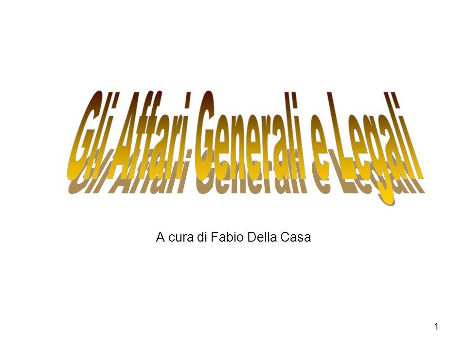 1 A cura di Fabio Della Casa