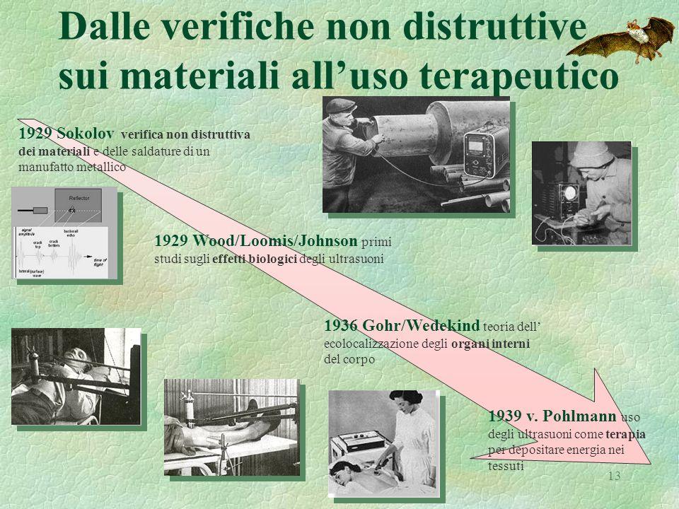 13 Dalle verifiche non distruttive sui materiali alluso terapeutico 1929 Sokolov verifica non distruttiva dei materiali e delle saldature di un manufa