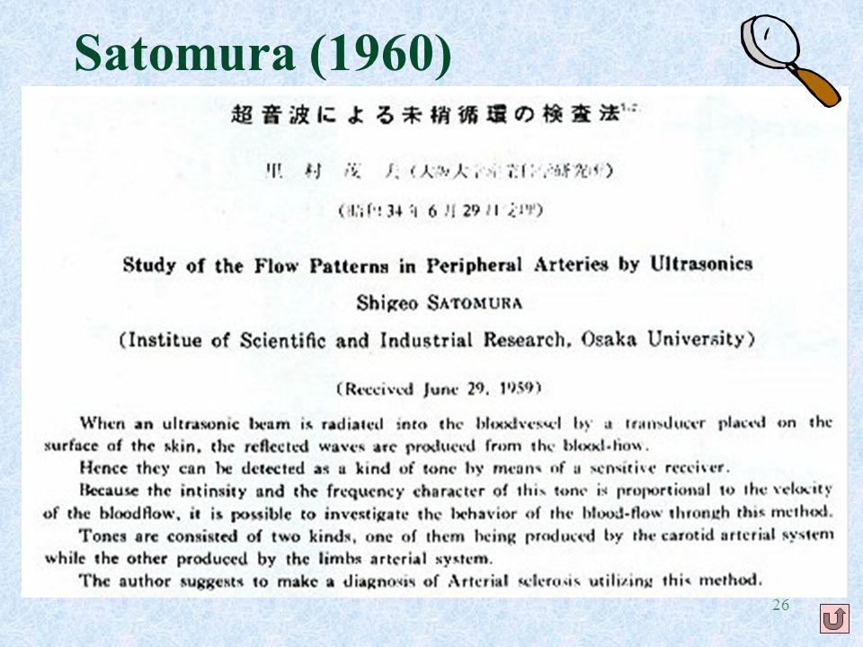 26 Satomura (1960)