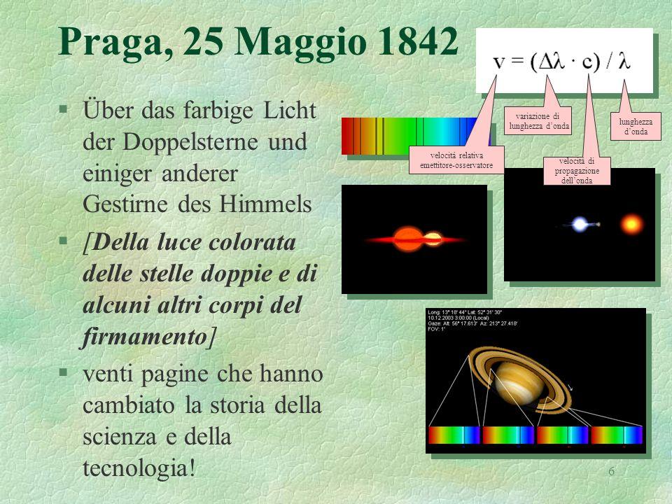 6 Praga, 25 Maggio 1842 §Über das farbige Licht der Doppelsterne und einiger anderer Gestirne des Himmels §[Della luce colorata delle stelle doppie e
