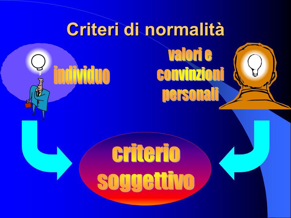 Criteri di normalità
