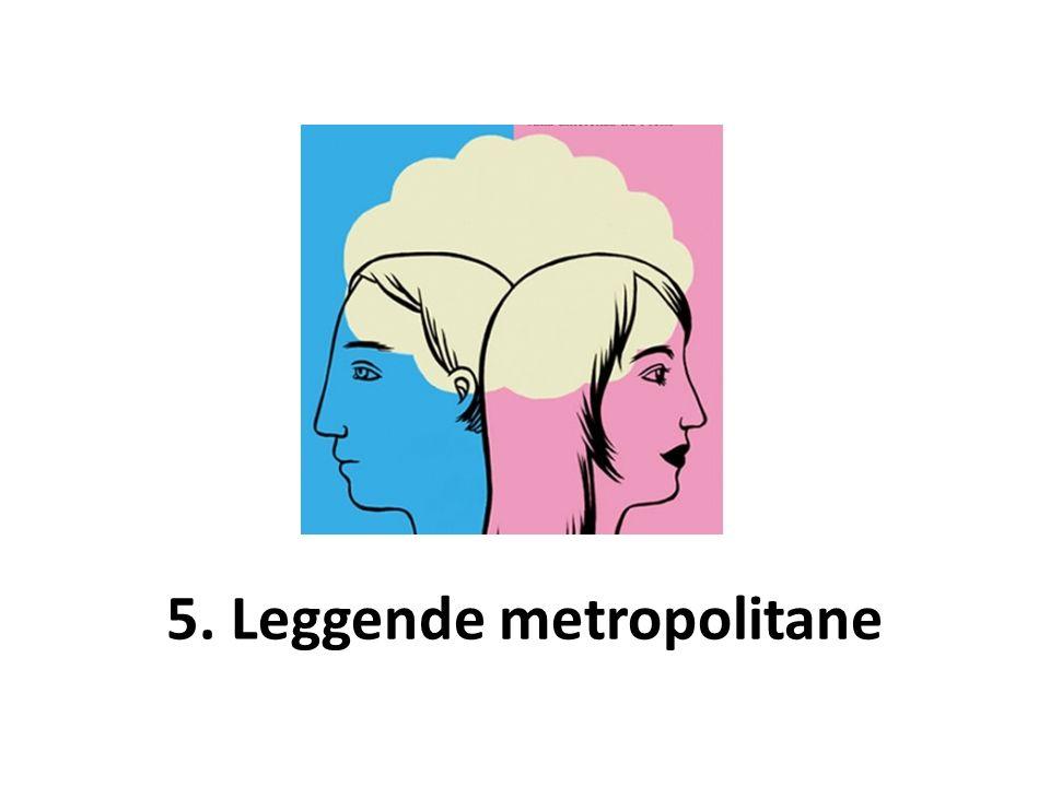 5. Leggende metropolitane
