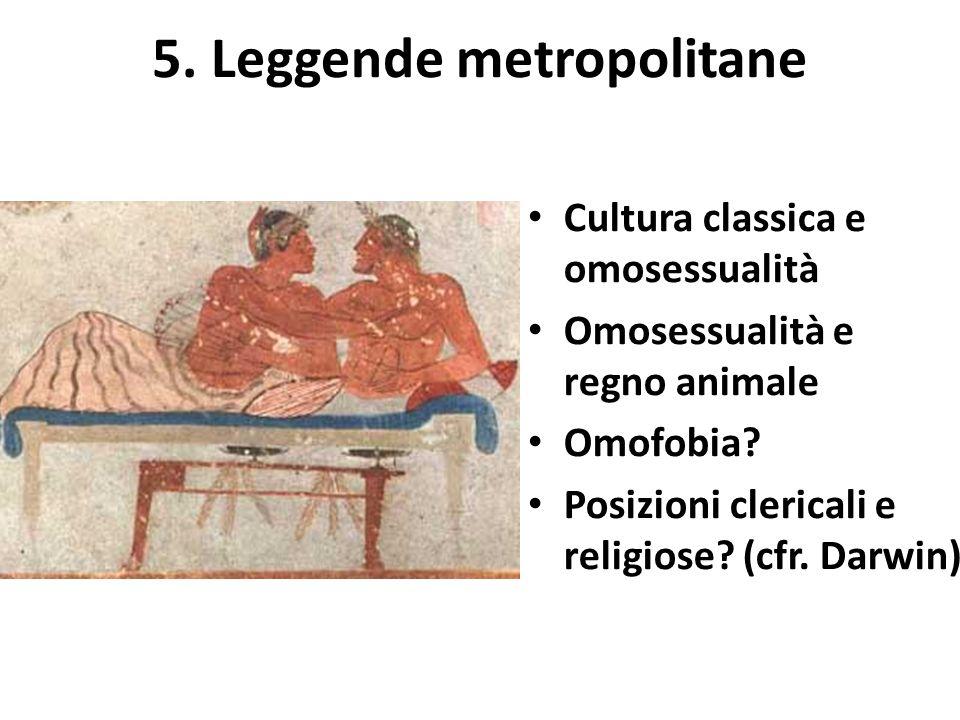 Cultura classica e omosessualità Omosessualità e regno animale Omofobia.