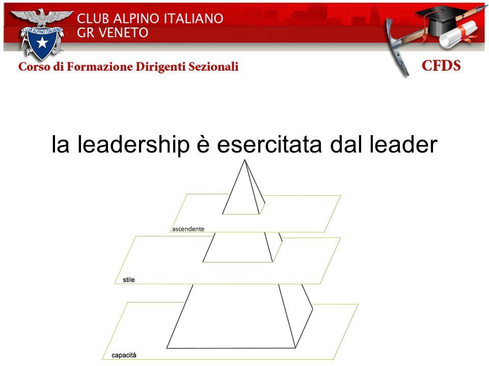 la leadership è esercitata dal leader